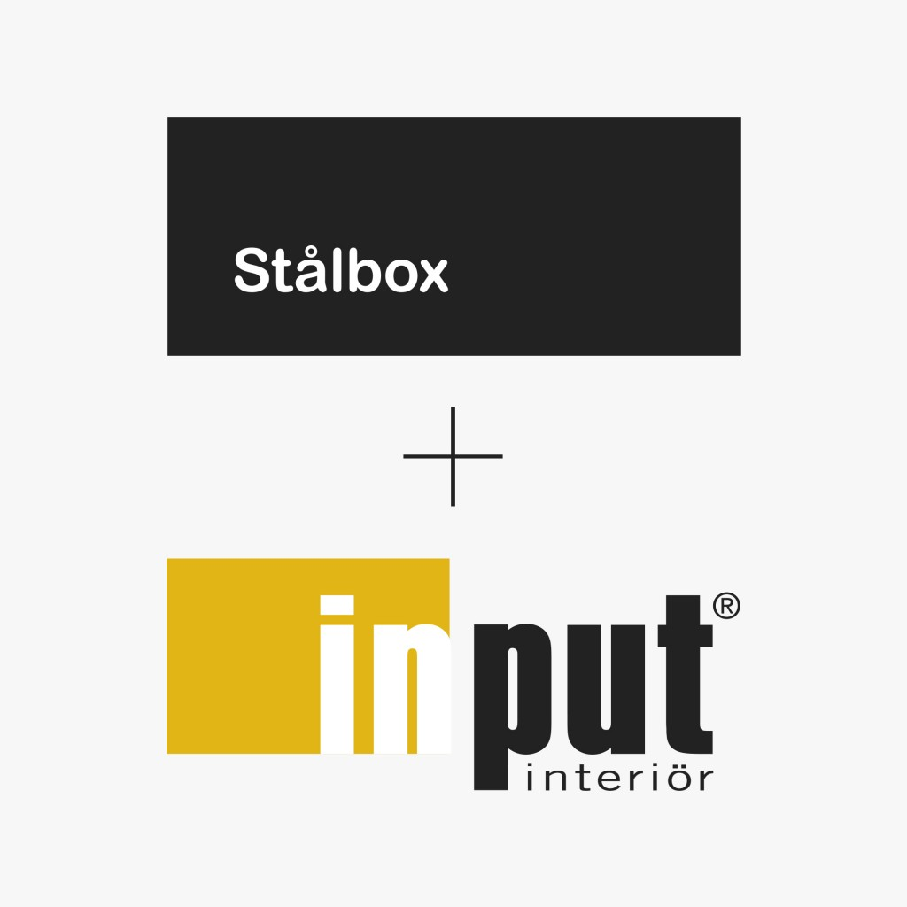 Stålbox + Input interiör logotypes